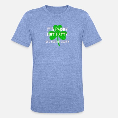 Feckin Feckin Eejit Distressed for St Paddy's Day - Unisex Tri-Blend T-Shirt