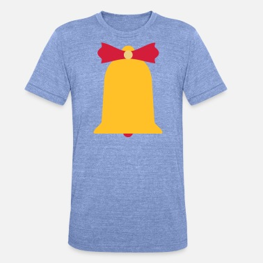 Belle Bell Christmas bell bells bells - Unisex Tri-Blend T-Shirt by Bella & Canvas