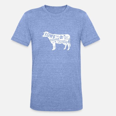 Cows are for Mooing Vegan Vegetarian Paleo Shirt - Unisex Tri-Blend T-Shirt by Bella & Canvas