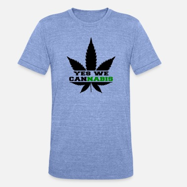 Yes We Cannabis Ja vi cannabis - Unisex triblend T-shirt
