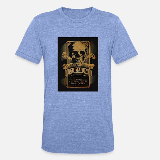 Alcohol T-Shirts - trend - Unisex Tri-Blend T-Shirt heather blue