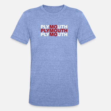 Plymouth Plymouth Storbritannien Flag Shirt - Plymouth - Unisex triblend T-shirt
