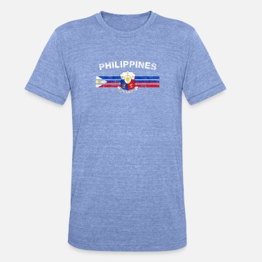 Filippinsk Filipino Flag Shirt - filippinsk Badges & filippinske - Unisex triblend T-shirt