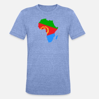 african_flag_map_of_eritrea - Unisex Tri-Blend T-Shirt
