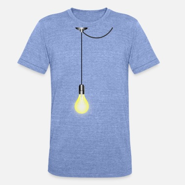 Cable Lightbulb on the cable - Unisex Tri-Blend T-Shirt