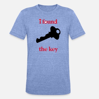 i_locked_my_hearti_found_the_key_right - Unisex Tri-Blend T-Shirt