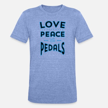 Pedal Love, Peace and Pedals 2 - Unisex T-Shirt meliert
