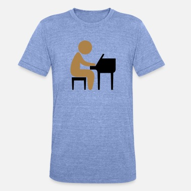 Jazz A jazz musician plays on the piano - Unisex Tri-Blend T-Shirt