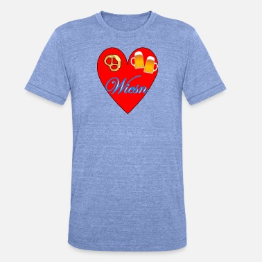 I Love Wiesn I love Wiesn 2 - Unisex Tri-Blend T-Shirt by Bella & Canvas