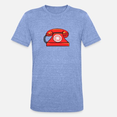 Fon PhoneRED - Unisex tri-blend T-shirt fra Bella + Canvas