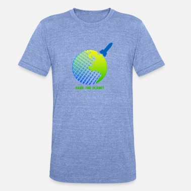 Save The Planet save the planet - Unisex Tri-Blend T-Shirt