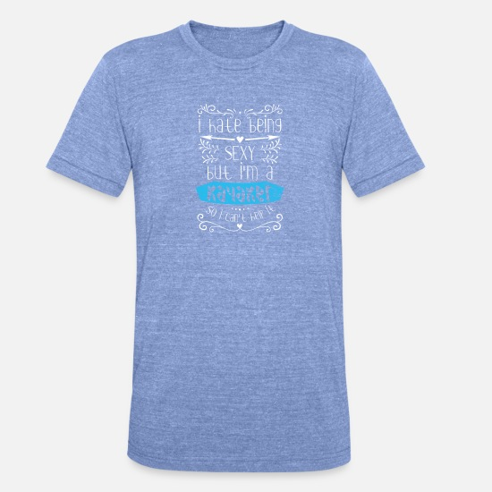 Aquatics T-Shirts - Kayaking gift whitewater river - Unisex Tri-Blend T-Shirt heather blue