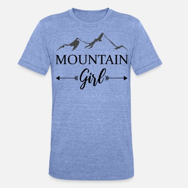 Skiwasser mountain girl berge winter alpen - Unisex Tri-Blend T-Shirt von Bella + Canvas