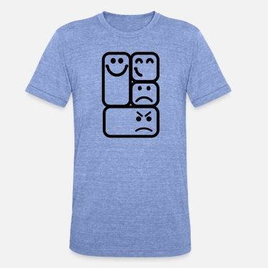 Emoticon Emoticons smileys - Unisex tri-blend T-skjorte fra Bella + Canvas
