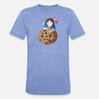 Koekiemonster Cookie tijd - Unisex tri-blend T-shirt van Bella + Canvas
