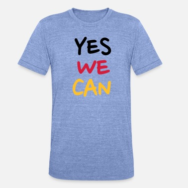 Yes We Can Yes we can - Koszulka triblend unisex