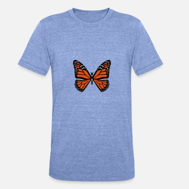 Orange butterfly - Unisex Tri-Blend T-Shirt