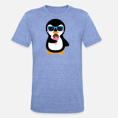Ice Cream Penguin Penguin is eating an ice cream - Unisex Tri-Blend T-Shirt by Bella & Canvas
