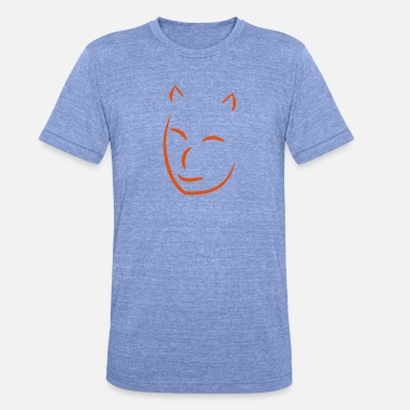 face2 - Unisex triblend T-shirt