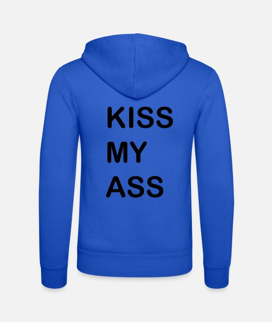 Ass Bluzy - KISS MY ASS - Bluza rozpinana z kapturem unisex niebieski royal
