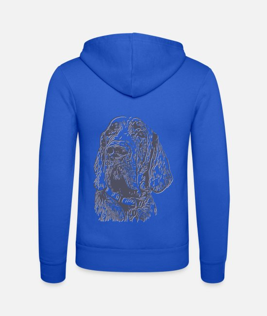 Cute Dog Hoodies & Sweatshirts - Dog mastiff gray silver light gray - Unisex Zip Hoodie royal blue