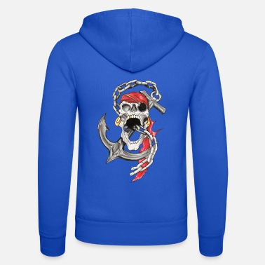 Pirate Crane Pirate Tattoo - Unisex Zip Hoodie