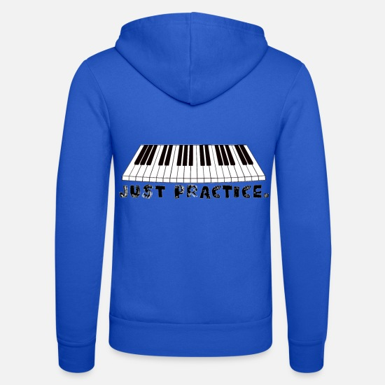 Pianist Hoodies & Sweatshirts - practice piano - Unisex Zip Hoodie royal blue