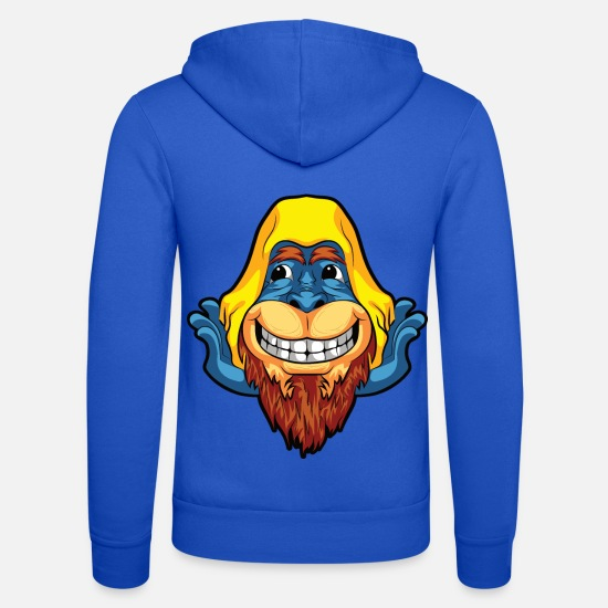 Fantasy Hoodies & Sweatshirts - Bigfoot comic - Unisex Zip Hoodie royal blue