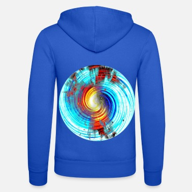 Rotation Fire ice rotation, Feuer Eis rotation. - Unisex Kapuzenjacke