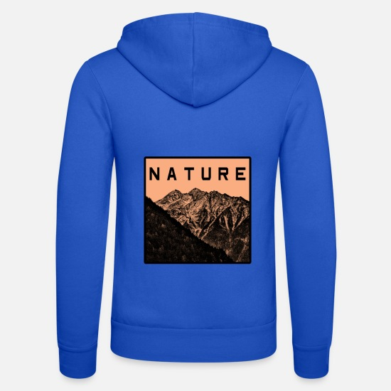 Forest Hoodies & Sweatshirts - Mountains, wilderness and nature - Unisex Zip Hoodie royal blue