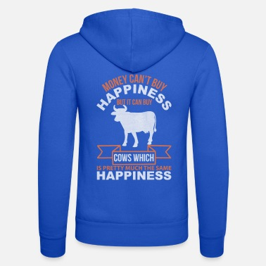 Dairy Cow Cow with funny saying - Unisex Zip Hoodie