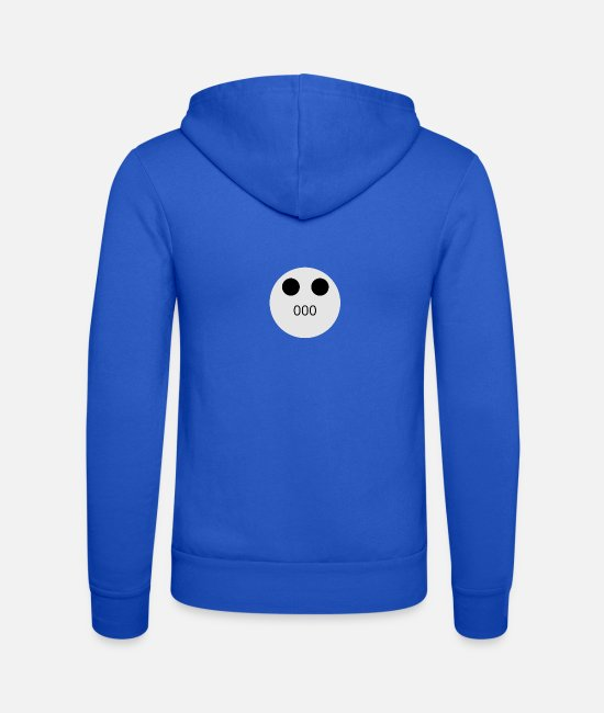 Emoticon Hoodies & Sweatshirts - Icon - Unisex Zip Hoodie royal blue