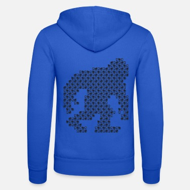Monster Bigfoot Nessie UFOs hidden in the pattern - Unisex Zip Hoodie