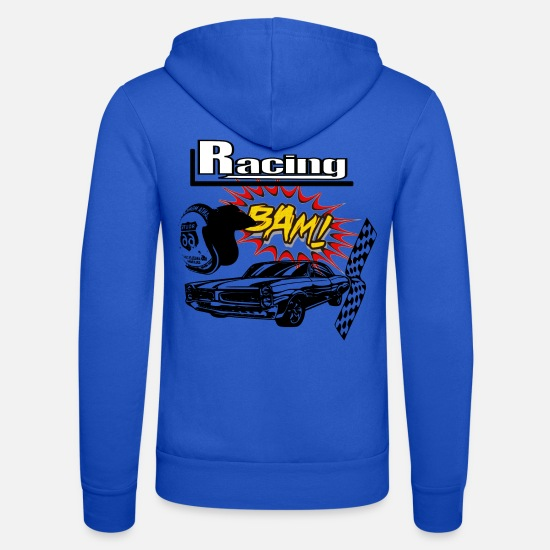 V8 Hoodies & Sweatshirts - Muscle car car race - Unisex Zip Hoodie royal blue