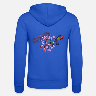 Cherry Cherries. Cherries with cherry blossoms. - Unisex Zip Hoodie