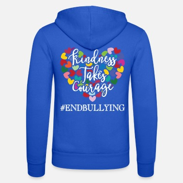 Bullying Quotes Anti bullying Awareness design Gift Endbullying - Unisex Zip Hoodie