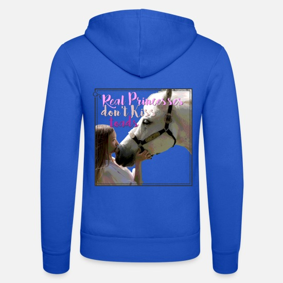 Quarterhorse Felpe - dont kiss - Felpa con zip unisex blu royal