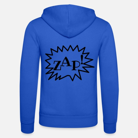 Comic Hoodies & Sweatshirts - ZAP! Cartoonstyle, Comic, Comic Style - Unisex Zip Hoodie royal blue