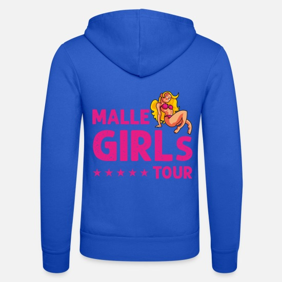 Comics Sweat-shirts - bikini malle girls - Veste à capuche unisexe bleu royal