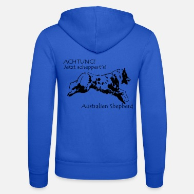 Scalable Australia Shepherd with spell - Unisex Zip Hoodie