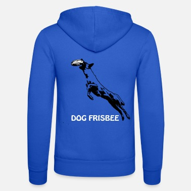 Scalable Dog Frisbee with Malinois and lettering - Unisex Zip Hoodie