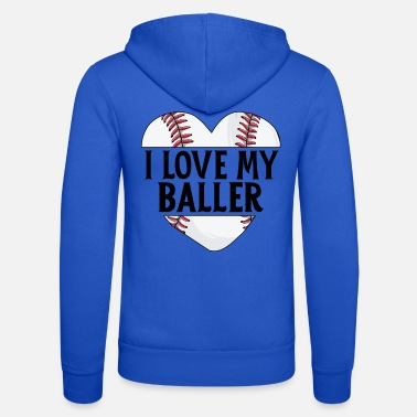 Up Baseball Dad Shirt Father's Day Gift I Love My - Unisex Zip Hoodie