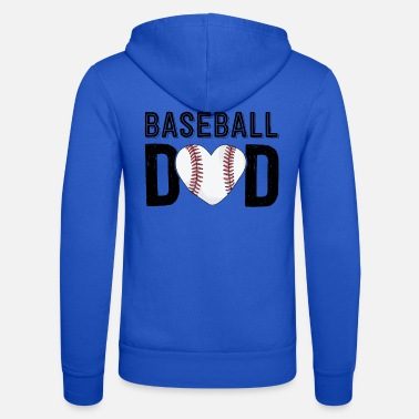 Baseball Baseball Dad Shirt Papa Father's Day Gift For Him - Unisex Zip Hoodie