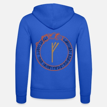 Protection rune Fehu - prosperity - vector - Unisex Zip Hoodie