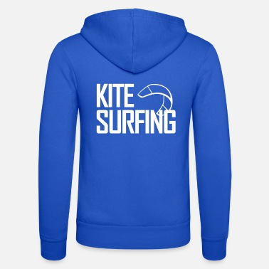 Kite Boarding Kitesurfing with kite - Unisex Zip Hoodie