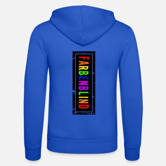 Blind Hoodies & Sweatshirts - color-blind - Unisex Zip Hoodie royal blue