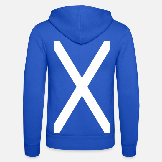 Scotland Hoodies & Sweatshirts - Scotland flag flag football - Unisex Zip Hoodie royal blue