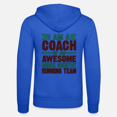 Awesome Running Coach Gift Coach of Awesome Cross Country - Unisex Zip Hoodie