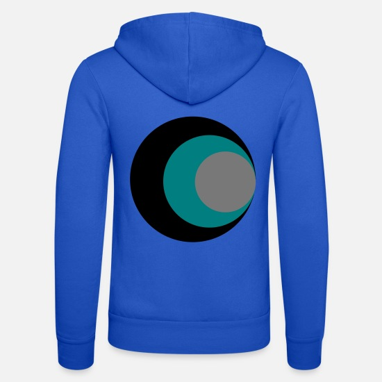 Ovale Sweat-shirts - cercles - Veste à capuche unisexe bleu royal