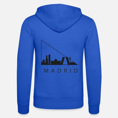 Madrid Skyline di Madrid - Felpa con zip unisex